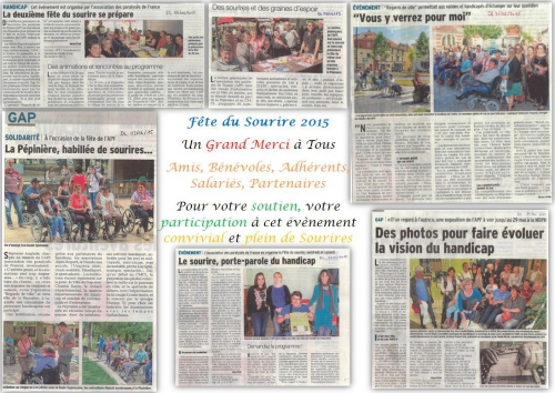 Remerciement articles journaux Fêtes du sourire 2015.JPG